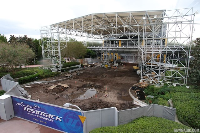 Test Track - New Test Track construction - entrance area