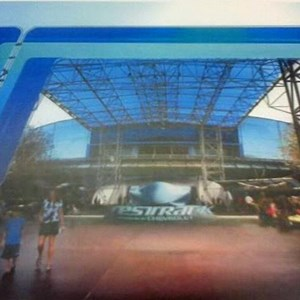 1 of 1: Test Track - Test Track main entrance canopy concept art