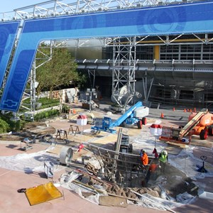 1 of 9: Test Track - Test Track construction - entrance area