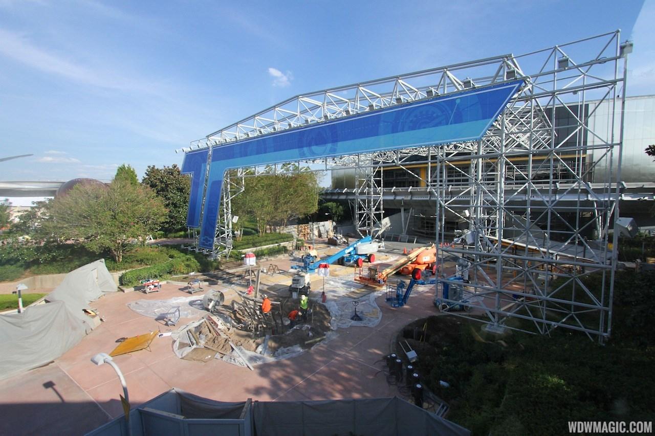 Test Track construction - entrance area