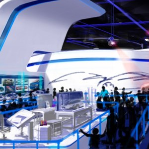 2 of 15: Test Track - New Test Track concept art - queue area