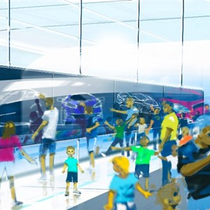 5 of 15: Test Track - New Test Track concept art - post show