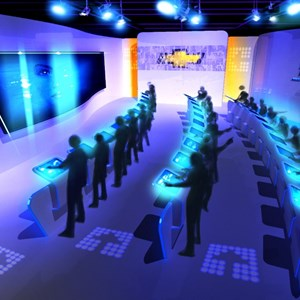 7 of 15: Test Track - New Test Track concept art - preshow design area