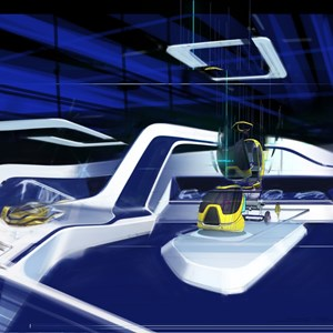 9 of 15: Test Track - New Test Track concept art - Pre Show