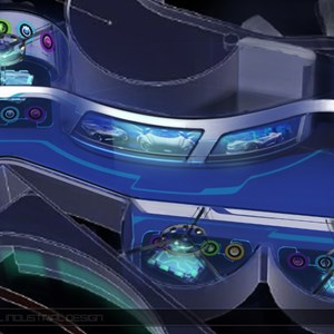 12 of 15: Test Track - New Test Track concept art - Ride show scene