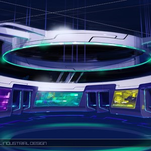 13 of 15: Test Track - Test Track concept art