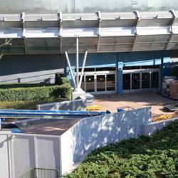 Test Track refurbishment pre-opening exterior