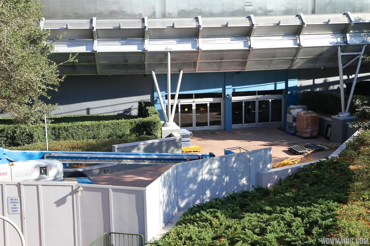 Test Track refurbishment pre-opening exterior