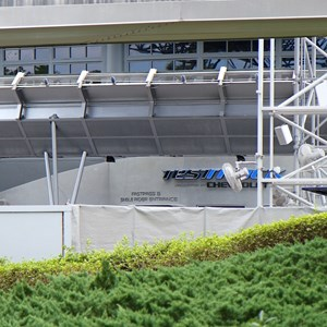 7 of 9: Test Track - Test Track refurbishment pre-opening exterior