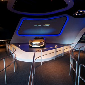 5 of 48: Test Track - New 2012 Test Track - Entrance to queue - standby to the right, FASTPASS to the left