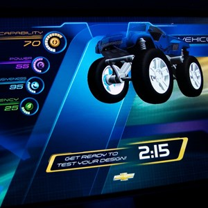 22 of 48: Test Track - New 2012 Test Track - Design Studio kiosk screen shot