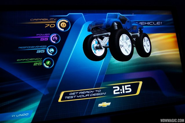 Test Track - New 2012 Test Track - Design Studio kiosk screen shot