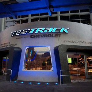 48 of 48: Test Track - New 2012 Test Track - Main entrance at dusk