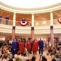 The American Adventure (Pavilion) - Voices of Liberty July 4 show inside the America Adventure Rotunda featuring a shadow choir on the upper level
