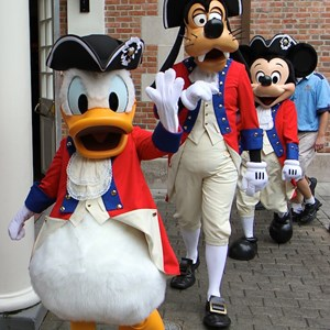 4 of 20: The American Adventure (Pavilion) - Donald Duck, Goofy and Mickey Mouse