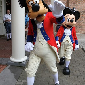 7 of 20: The American Adventure (Pavilion) - Goofy and Mickey Mouse