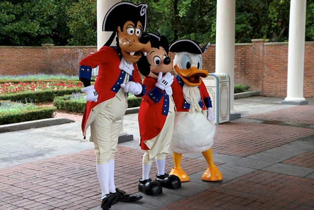 The American Adventure (Pavilion) - Donald Duck, Goofy and Mickey Mouse