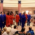 The American Adventure (Pavilion) - Voices of Liberty July 4 show inside the America Adventure Rotunda