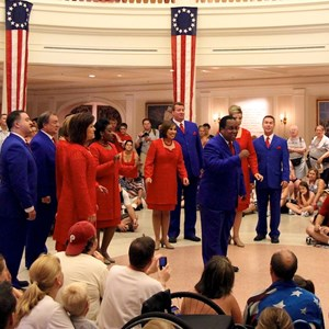 10 of 20: The American Adventure (Pavilion) - Voices of Liberty July 4 show inside the America Adventure Rotunda