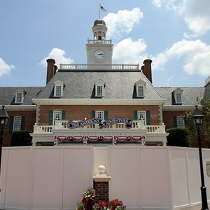 1 of 2: The American Adventure (Pavilion) - Fountain refurbishment