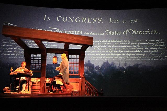 The American Adventure - Thomas Jefferson and Benjamin Franklin