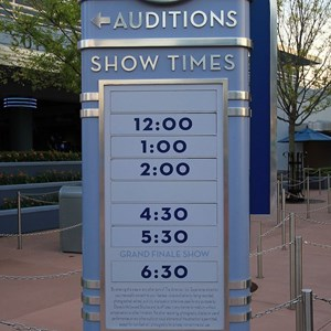 1 of 1: The American Idol Experience - Show time schedule