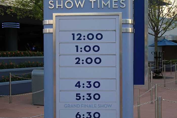 Show time schedule