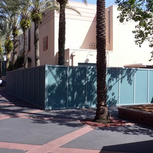 2 of 2: The American Idol Experience - Idol construction wall expands to the rear of the building