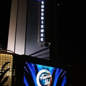 1 of 5: The American Idol Experience - The LED screen announcing an opening of Early 2009.