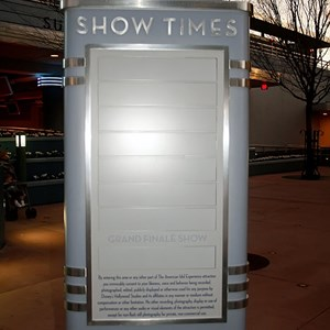1 of 2: The American Idol Experience - American Idol show time sign installed