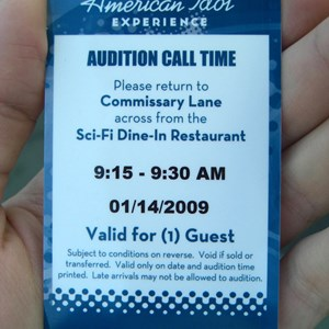 1 of 1: The American Idol Experience - American Idol audition pass