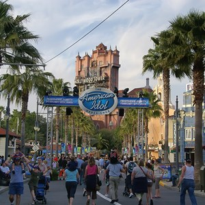 8 of 19: The American Idol Experience - Signs and banners ran along Sunset Blvd.