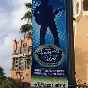 10 of 19: The American Idol Experience - American Idol Premiere Party banners along Sunset Blvd.