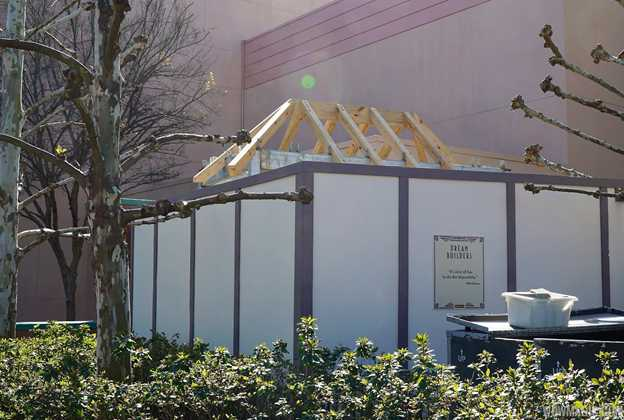 Construction at the exit of the Great Movie Ride