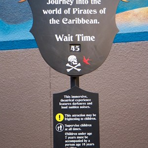 4 of 13: The Legend of Captain Jack Sparrow - The Legend of Captain Jack Sparrow wait time board