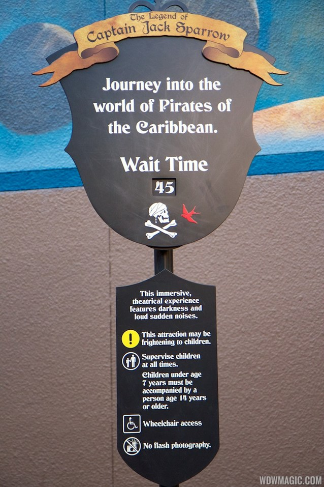 The Legend of Captain Jack Sparrow - The Legend of Captain Jack Sparrow wait time board