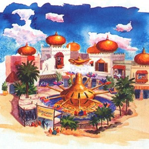 1 of 1: The Magic Carpets of Aladdin - Alladin concept art