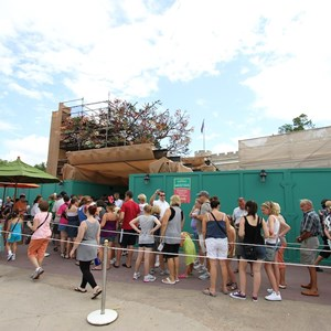 3 of 4: The Many Adventures of Winnie the Pooh - Queue area construction