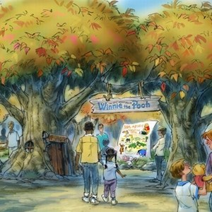 1 of 1: The Many Adventures of Winnie the Pooh - New entrance concept art