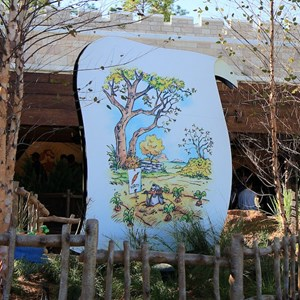 13 of 31: The Many Adventures of Winnie the Pooh - New queue area