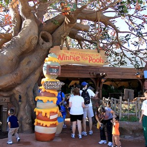 3 of 31: The Many Adventures of Winnie the Pooh - New queue area