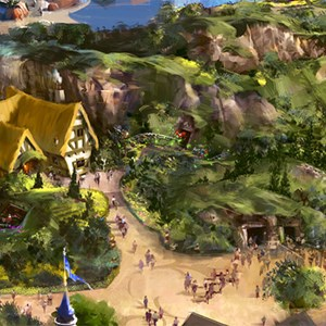1 of 4: Seven Dwarfs Mine Train - Seven Dwarfs Mine Train concept art