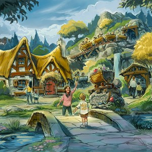 2 of 4: The Seven Dwarfs Mine Train - Seven Dwarfs Mine Train concept art