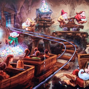 3 of 4: The Seven Dwarfs Mine Train - Seven Dwarfs Mine Train concept art