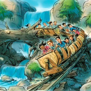 4 of 4: Seven Dwarfs Mine Train - Seven Dwarfs Mine Train concept art