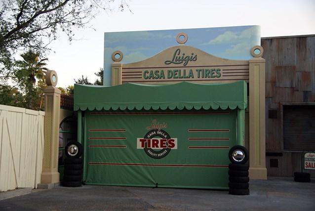 The Stars of Cars at Luigi's Garage
