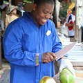 The Taste of Africa Street Party - Fresh cut fruit demonstrations at the Harambe Fruit Market