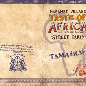 33 of 35: The Taste of Africa Street Party - The party guidemap. Copyright 2010 The Walt Disney Company