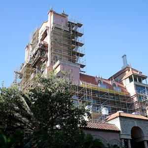 3 of 4: The Twilight Zone Tower of Terror - Tower of Terror scaffolding