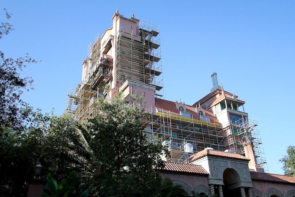 Tower of Terror scaffolding